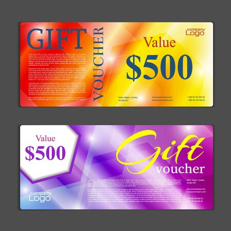 formal: Gift voucher template. Can be use for shopping cards, discount coupon, discount card , web design and other. illustration. Abstract design