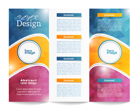 brochure background: Tri-fold Brochure Template.Corporate business background or cover design can be use for publishing, print and presentation