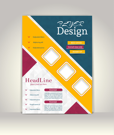 magazine template: Flyer, brochure or magazine cover template