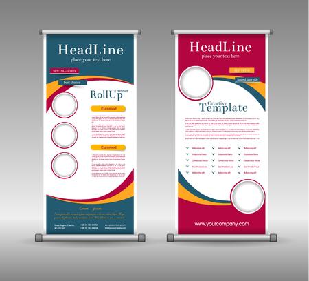 Diseño colorido del rollo de bandera abstracta geométrica, Fondo Vector Publicidad