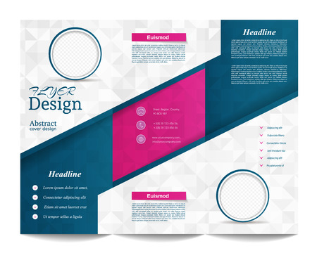 magazine template: Tri-fold Brochure Template.Corporate business background or cover design can be use for publishing, print and presentation.