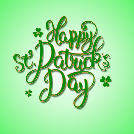 Happy St.Patricks Day - greeting card with lettering Illustration