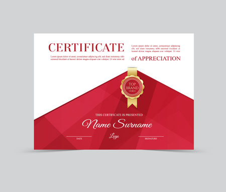 Vector Template Certificate of Appreciation