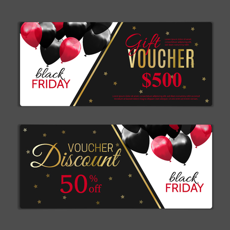Black Friday Gift voucher template