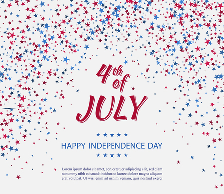 Independence day of USA poster template vector illustration