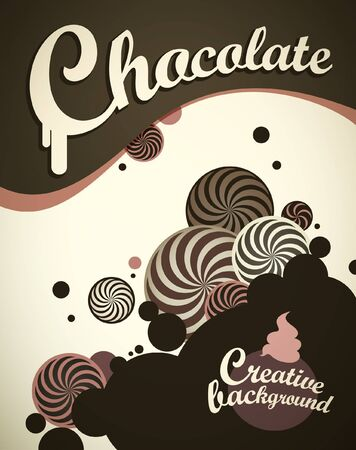 candy stripe: Chocolate background Illustration