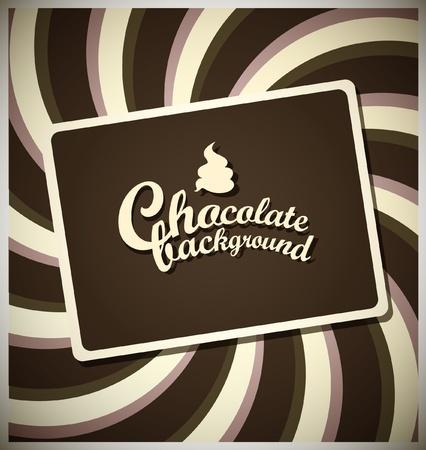 ice cream chocolate: Chocolate background Illustration