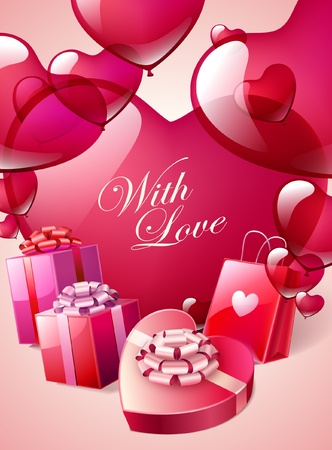 Valentine s Day Greeting card Stock Vector - 17831029