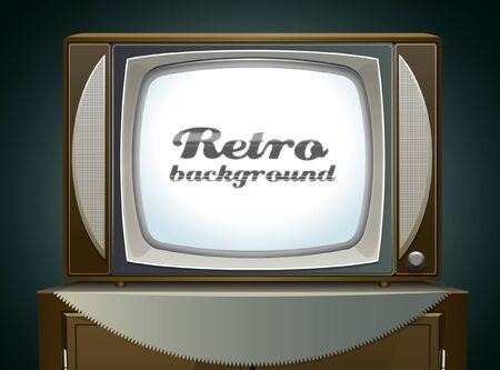 Vintage TV background Stock Vector - 17831026