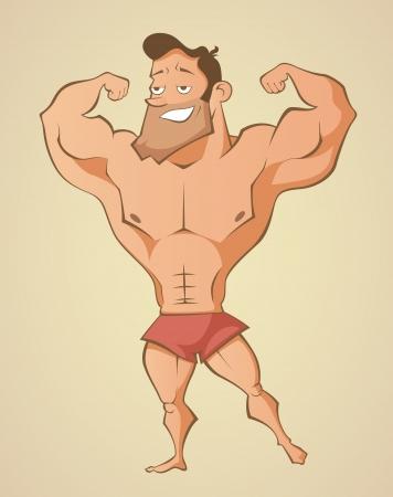 Homem praia ver Ilustração