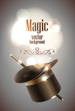 magic trick: Magic hat background
