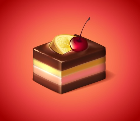 Cherry lemon cake