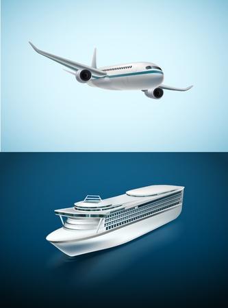 Traveling transport Illustration