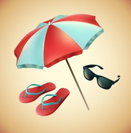 beach umbrella: Beach equipment