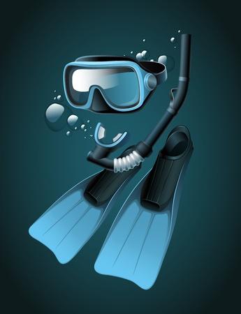 flippers: Diving equipment Illustration