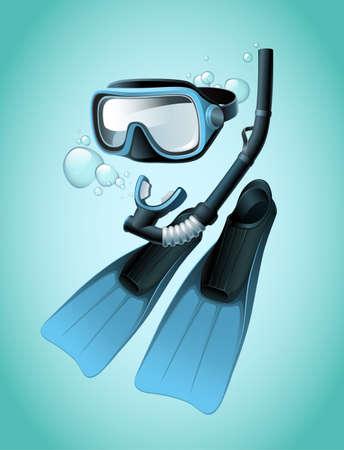 Diving equipment Stock Vector - 17988989