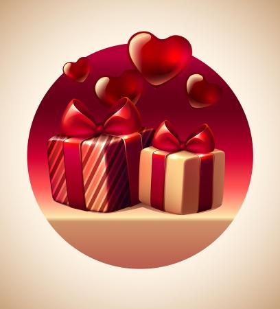 Valentine s Day Day gifts Illustration