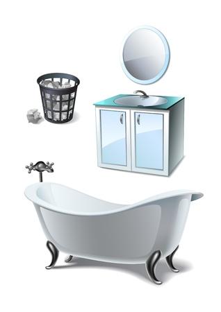 furniture detail: Bathroom set