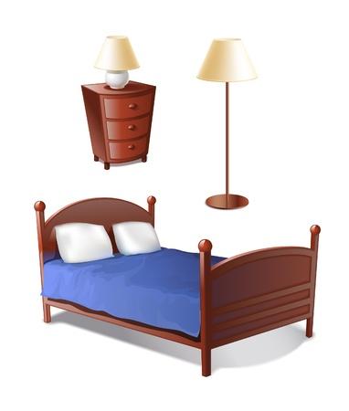 łóżko: Zestaw sypialnia
