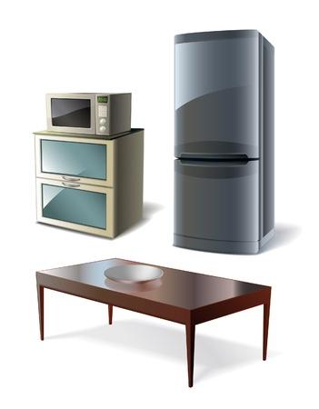 Conjunto de cozinha Ilustração