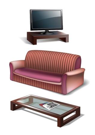 furniture detail: Living room set Illustration