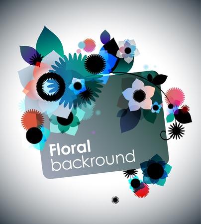 Creative floral background Illustration