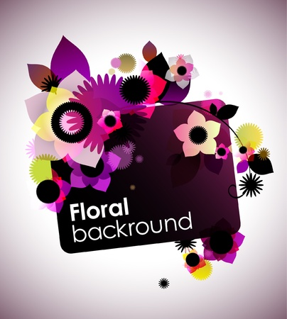 Creative floral background Stock Vector - 17989003