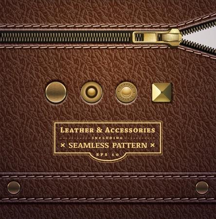 texture cuir marron: texture de cuir Illustration