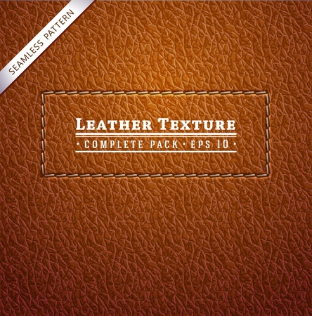 textuur: Leder textuur Stock Illustratie