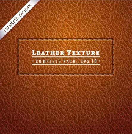 Textura de couro Ilustração