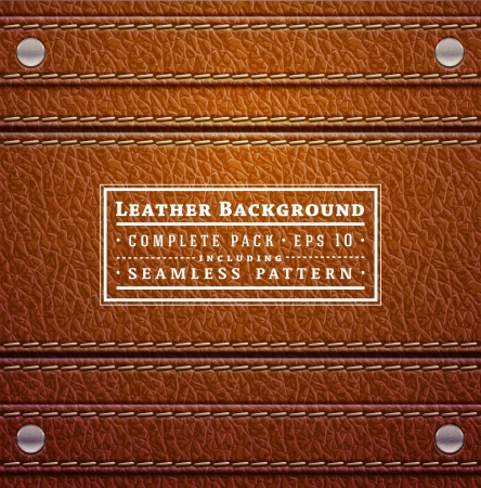 Leather texture Stock Vector - 18103166