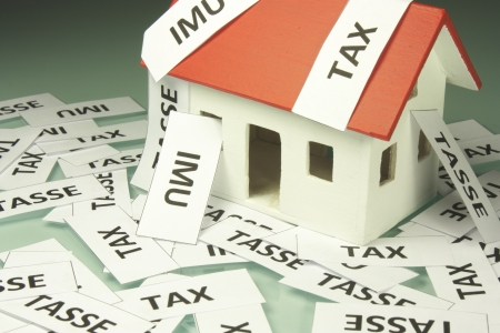 Home taxes Stock Photo