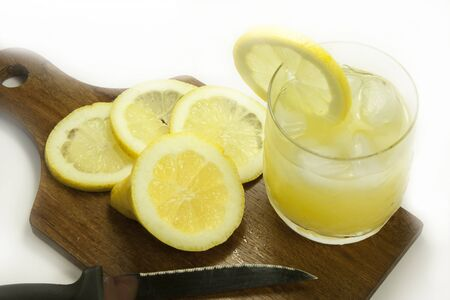 lemons and lemonade Stock Photo