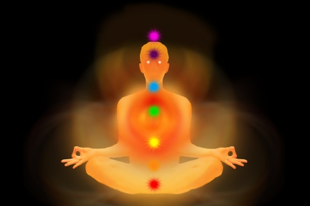 man of energy represented the seven chakras Stock Photo - 15085206