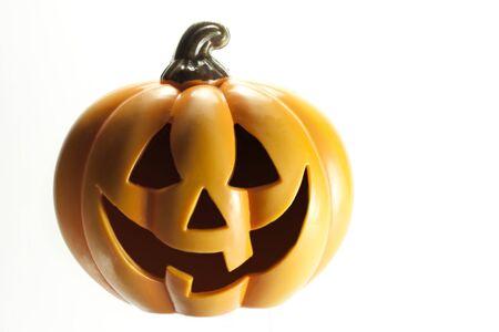 halloween pumpkin orange toy isolated Stock Photo