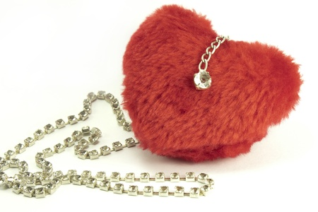 red soft toys hearts and diamonds