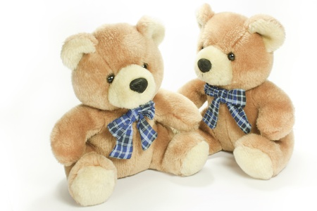 couple of classic teddy bear toy photo