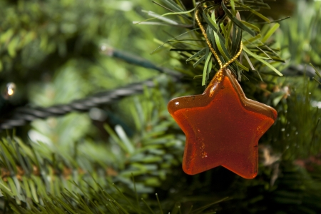 rosin: Christmas decoration star-shaped made with vegetable resin