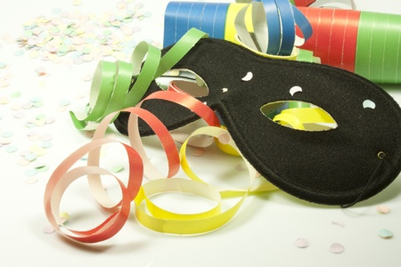 pranks: colored streamers and colorful confetti