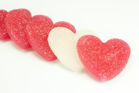 sugar candies in the shape of heart photo