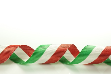 Italian tricolor ribbon of national flag