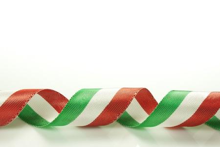 Italiana nastro tricolore della bandiera nazionale Archivio Fotografico - 18619571