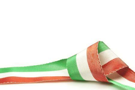 Italiana nastro tricolore della bandiera nazionale Archivio Fotografico - 18619554