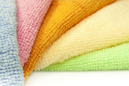 collaborator: colored microfiber cloths for cleaning