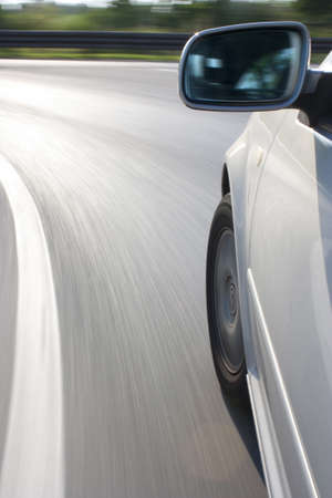 car at high speed while cornering