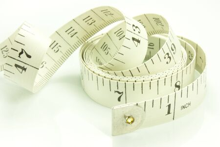 fabric measuring tape isolated on white background