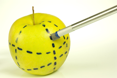 an apple shape as a cosmetic surgery