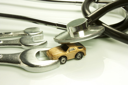 specialization: representation of certain work tools of doctor and mechanic