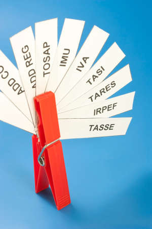 evasion: various acronyms taxes from tight clothespins