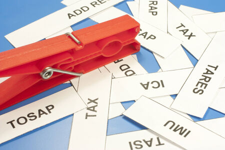 various acronyms taxes from tight clothespins